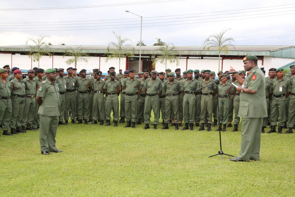 COAS Address Officers and Men of the 13 Brigade Nigerian Army in Calabar1