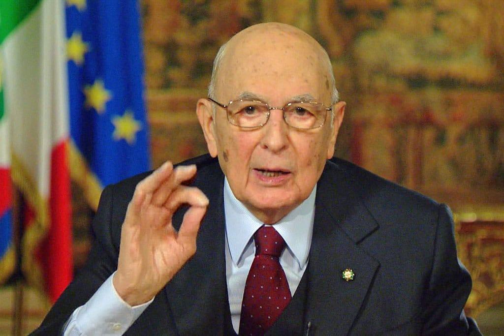 Giorgio Napolitano President Giorgio Napolitano of Italy resigns
