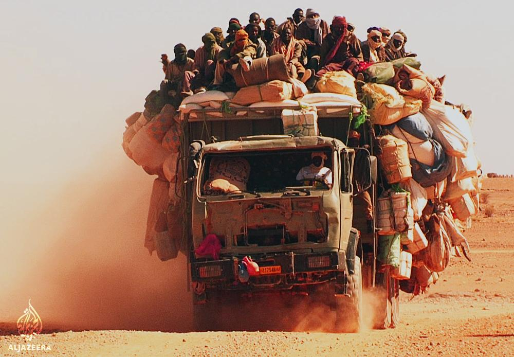 Overloaded Truck The Reality Of Life In The Sahara Desert
