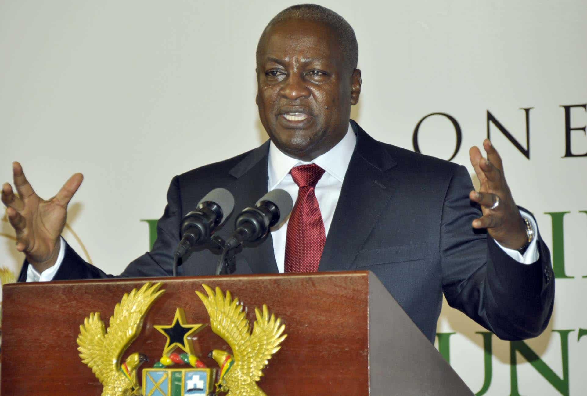 Ghanaian President, John Dramani Mahama