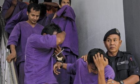 Some of the suspected rapists in Malaysia
