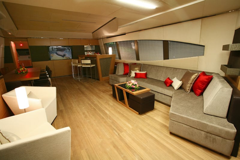 The interior of the Lady Moura super yacht