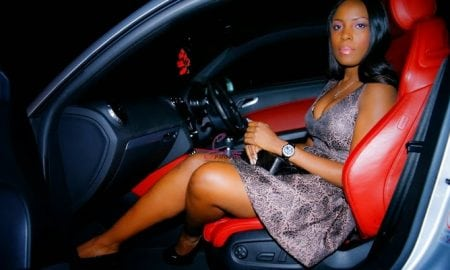Linda Ikeji during her visit to London in 2013