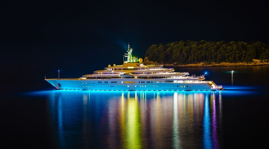 Eclipse Yacht at Night