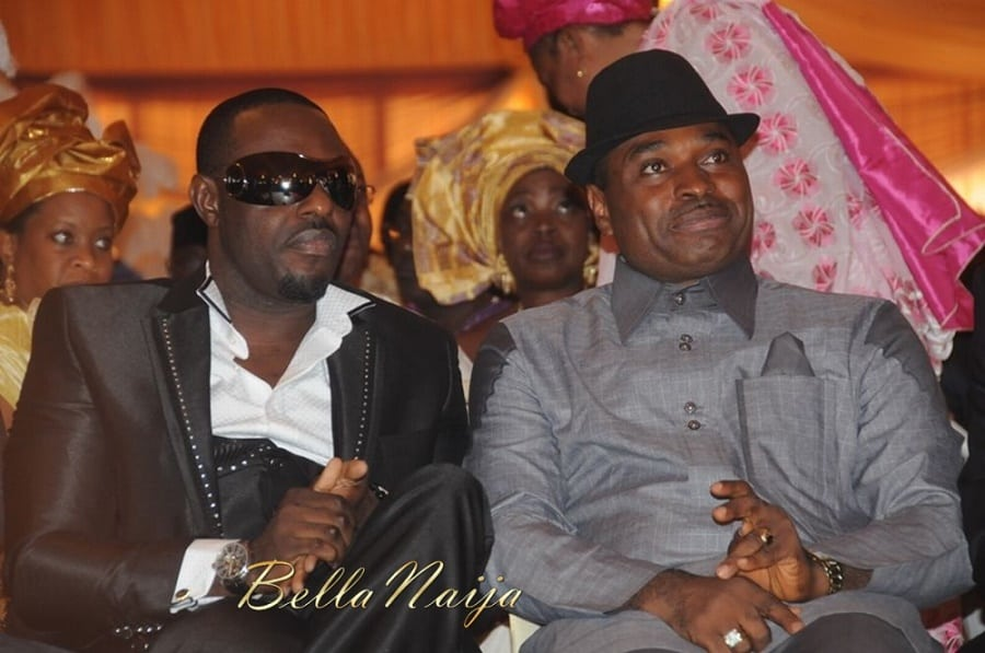Nollywood actors Jim Iyke with Kenneth Okonkwo