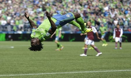 Obafemi Martins Back Flip