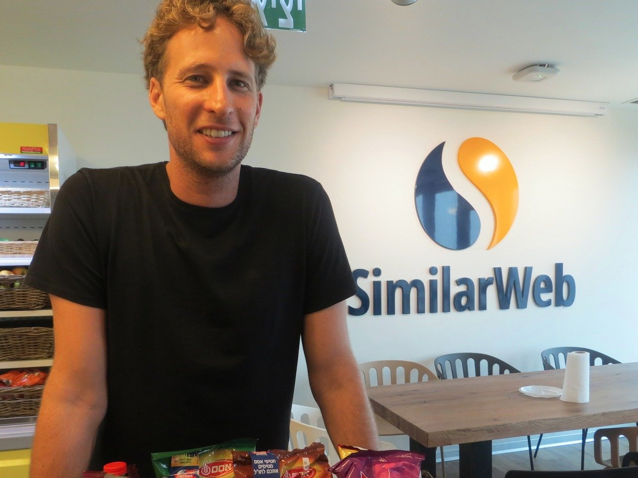 SimilarWeb CEO Or Offer in his Tel Aviv office contemplating about the future of the company
