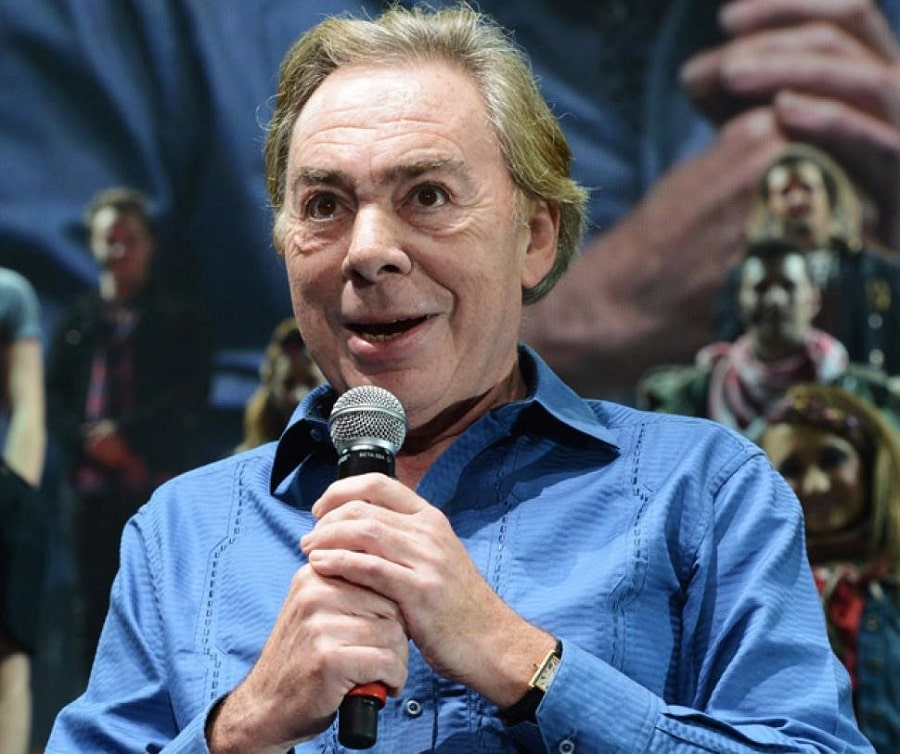 "Andrew Lloyd Webber at the curtain call at the final performance of ""Jesus Christ Superstar 