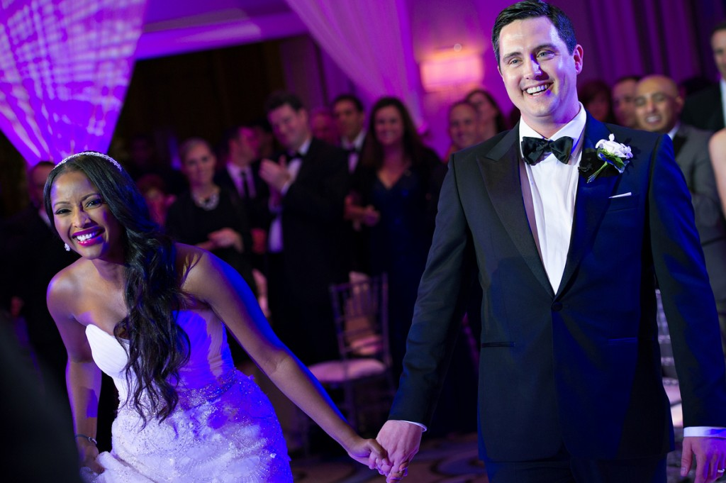 Isha Sesay and Leif Coorlim. The beautiful smiles of a happy couple on their wedding day