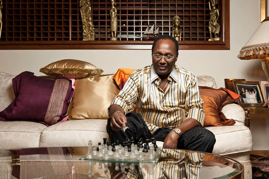 Chris Kirubi enjoying his chess | photo credit: capitalfm.co.ke
