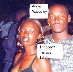 2 Face Idibia and Annie Macauley long before the African Queen