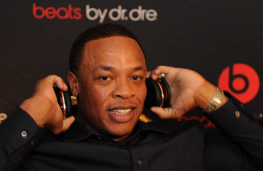 Dr. Dre, record producer/rapper shows off his new headphones | Photo credit: Thebusinessaim.com.ng