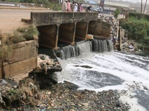 The canal where the bodies where found in Ikorodu