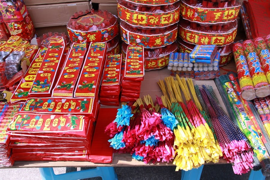 the myth of the use of firecrackers during the chinese new year Out during the chinese new year's celebrations, from married couples or the  elderly to unmarried juniors  in modern times, this method has eventually  evolved into the use of firecrackers during the festive season  see also myths  above.