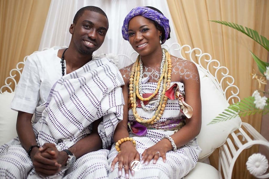 Newly traditionally wedded couple in Ghana | Photo credit: viasat1.com