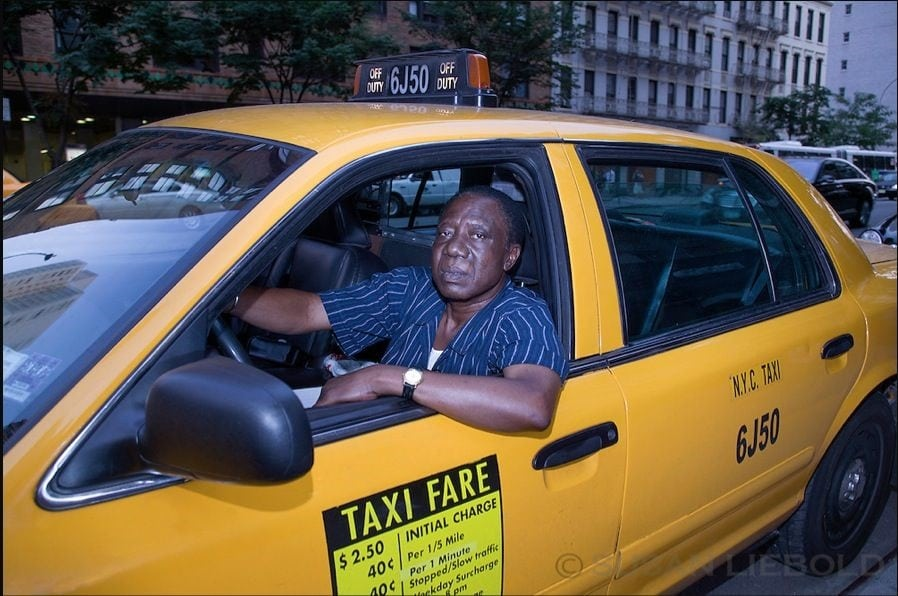 A Ghana taxi driver in New York |Photo credits: thisisafrica.me