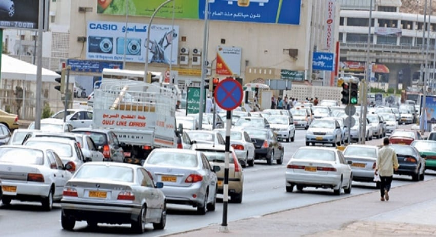 Traffic Jam in Oman city | Photo credits: times of oman.com