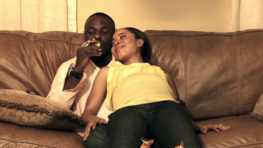 Nollywood actor Jim Iyke shows love to his movie wife | Photo credit: youtube.com