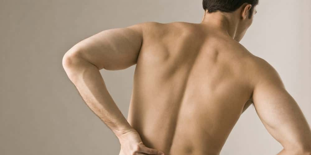Lower back pain in men