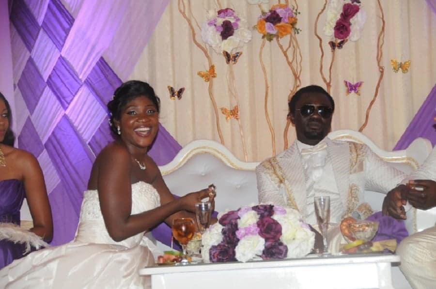 Mercy Johnson and her husband on their wedding day