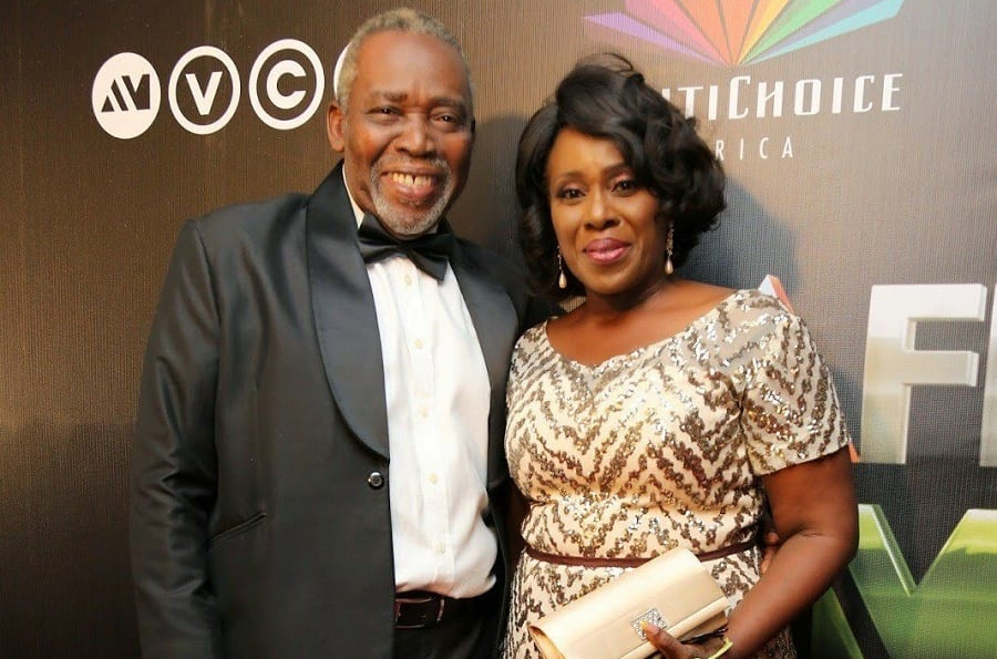 Olu Jacobs and his wife Joke silva