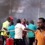 Abuja NNPC Mega station gutted by fire
