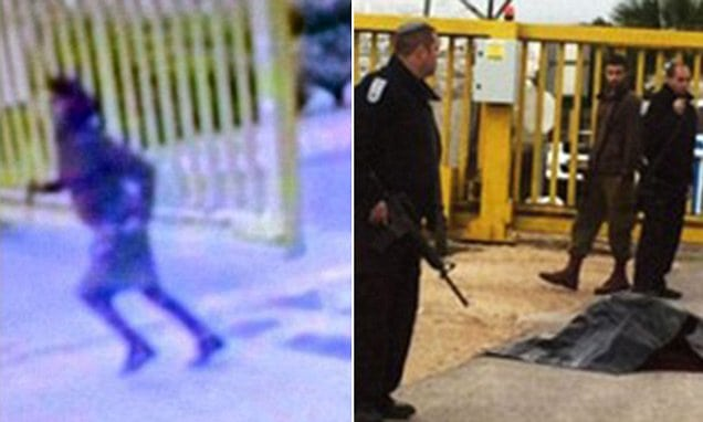 The photo of the girl running towards the security guard before she was shot dead