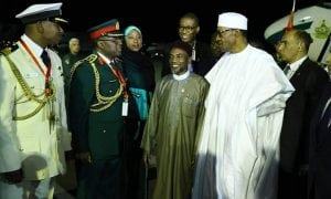 President Muhammad Buhari as he arrives Sharm El-Sheikh, Egypt to participate in the Business for Africa, Egypt and the World Forum.