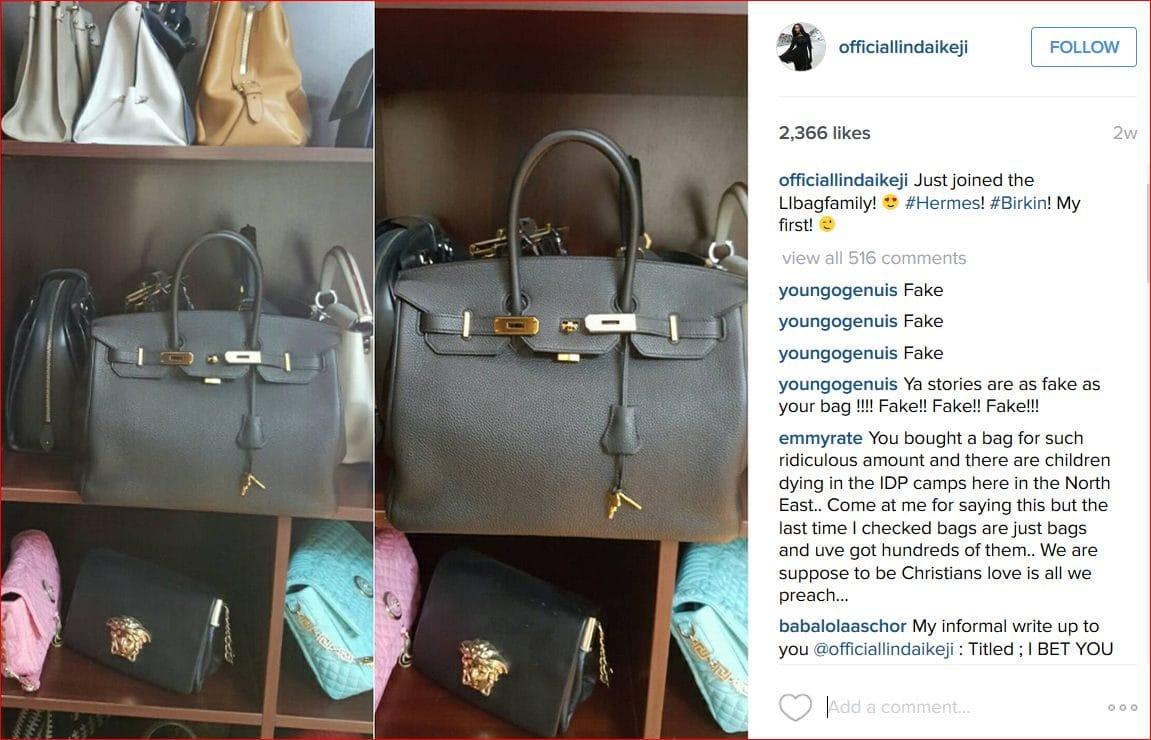 Linda Ikeji Hermes Birkin Bags