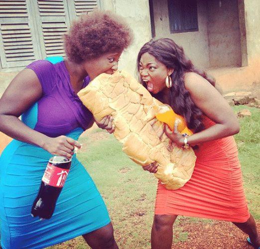 Mercy Johnson and Funke Akindele in a comic movie