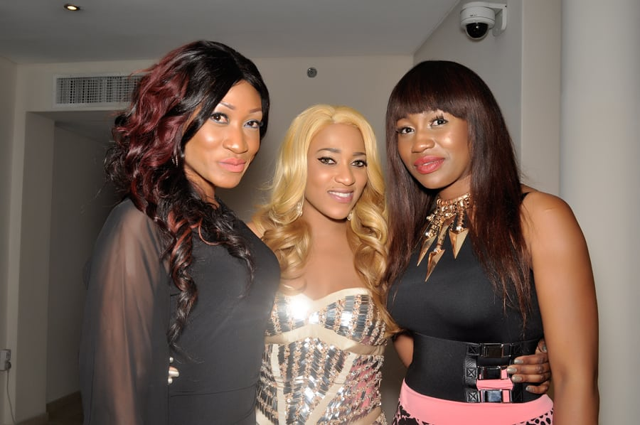 Oge Okoye, Rukky Sanda and Ebube Nwagbo at the movie premiere of Rukky Sanda's movie premiere of 'Keeping My Man'