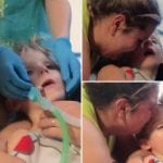 Claire and Mark Timmins captured the last moment of their son Mason dying from Meningitis
