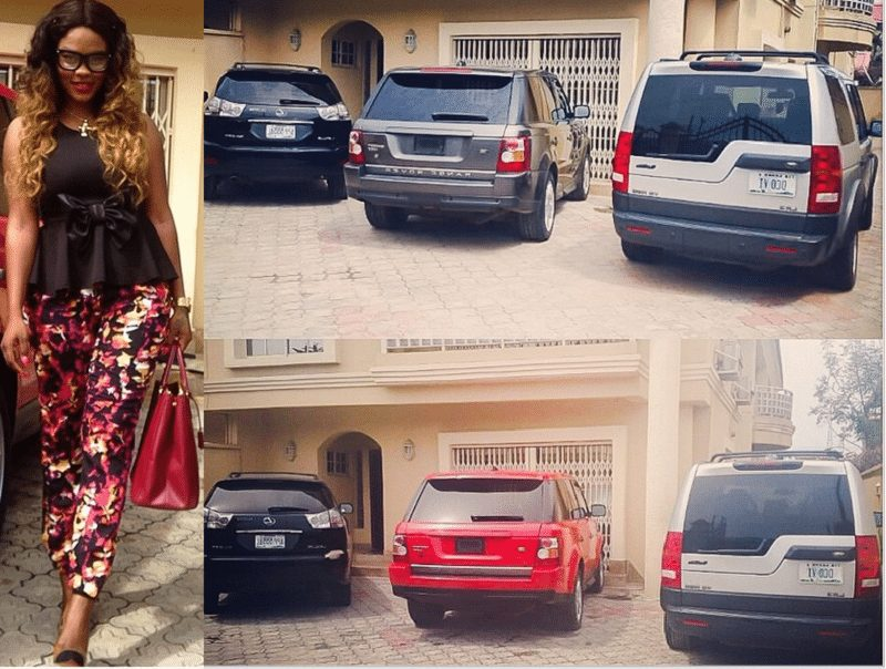 Daniella Okeke cars parked in her house