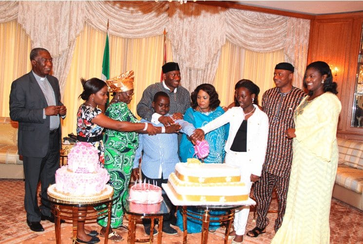 Goodluck Jonathan and family