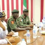 Bukola Saraki meets with Service Chiefs