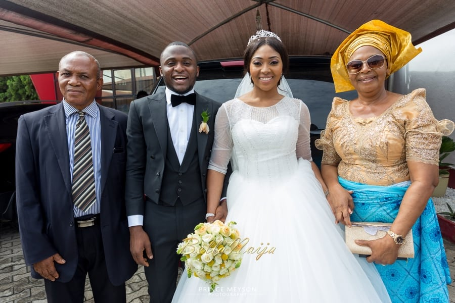 Lilian Esoro and Ubi Franklin White Wedding