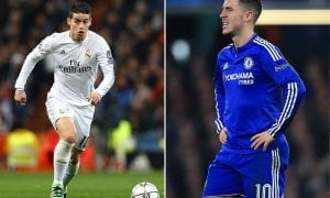 James Rodriguez and Eden Hazard