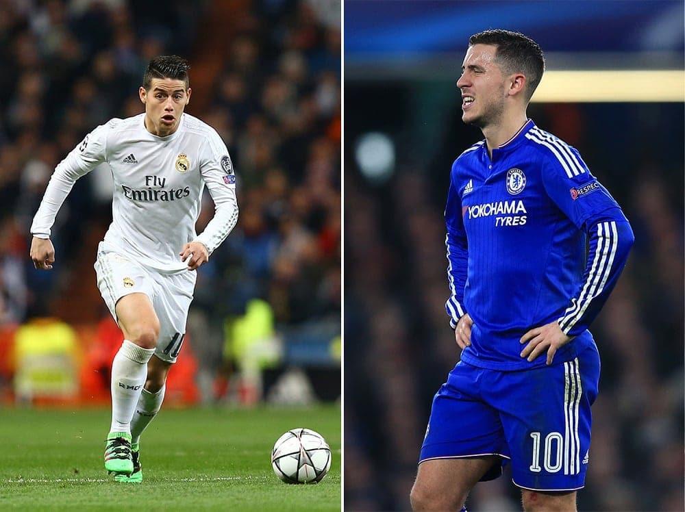 James Rodriguez and Eden Hazard