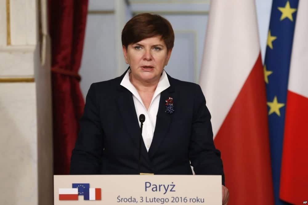Poland's Prime Minister Beata Szydlo