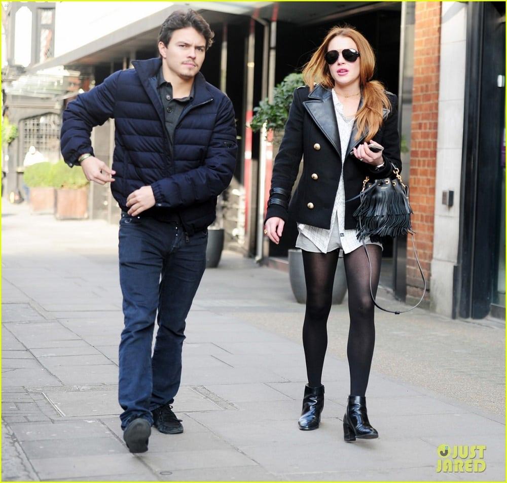Lindsay Lohan and her boyfriend Egor Tarabasov
