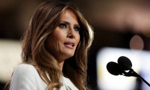 Melania Trump Delivering a Speech