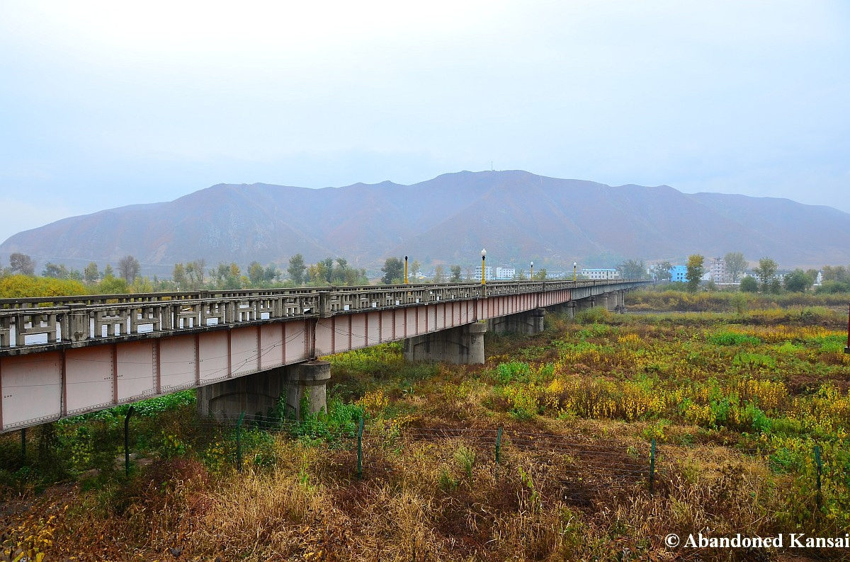 Border Crossing Between Tumen China And Namyang North Korea