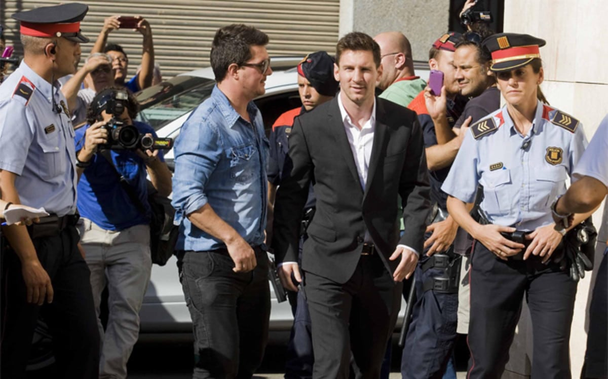Lionel Messi During One of The Court Appearances for The Tax Fraud