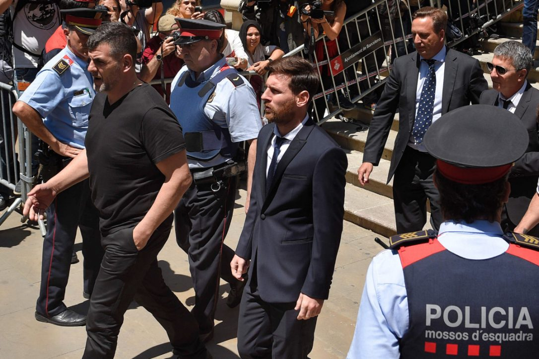 Lionel Messi and his father heading to court today