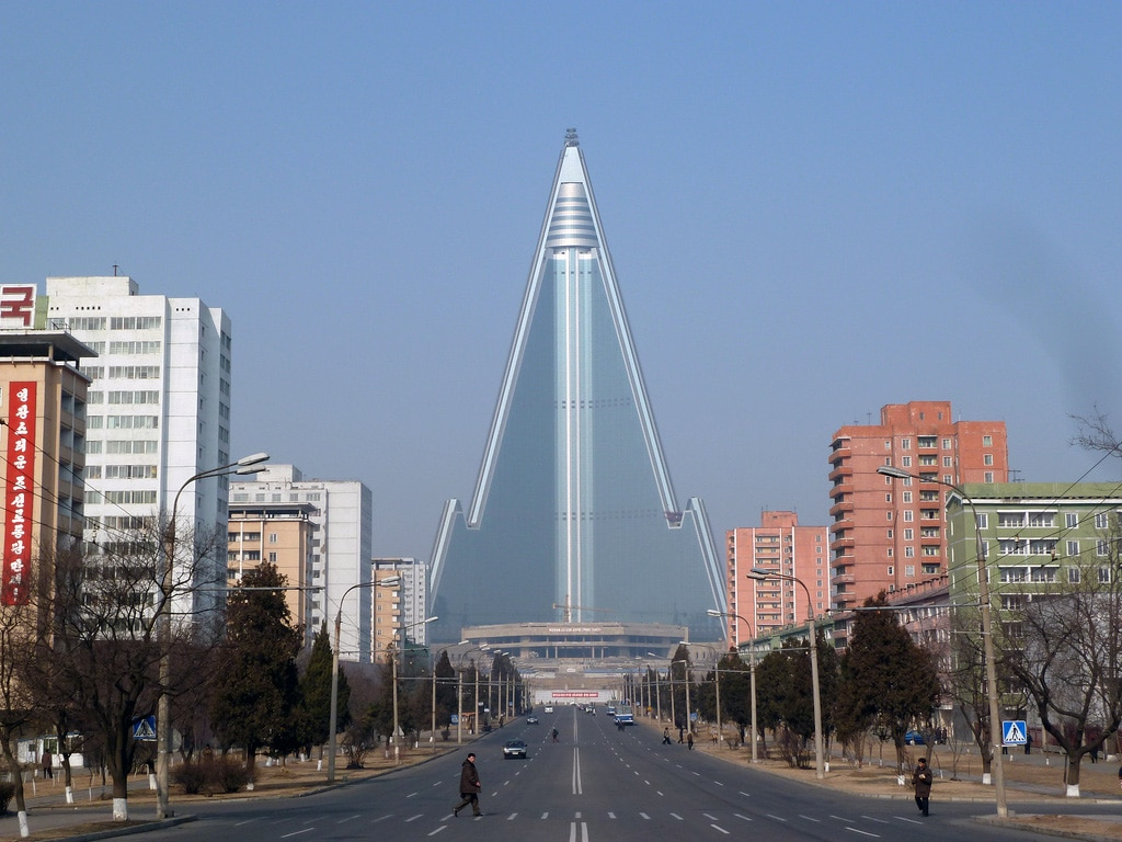 The Ryugyong Hotel in North Korea is the 24th biggest building in the world