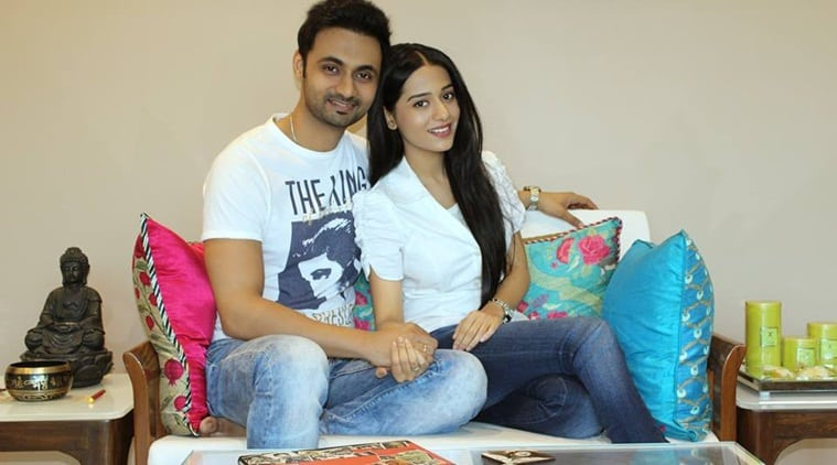 Amrita Rao with Husband