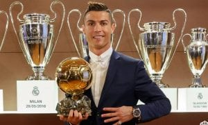Cristiano Ronaldo 2016 Ballon D'or award