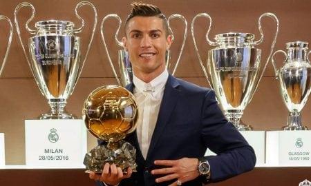 Cristiano Ronaldo 2016 Ballon D'or award