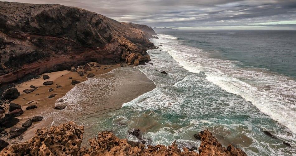 Volcanic landscape of Fuerteventura