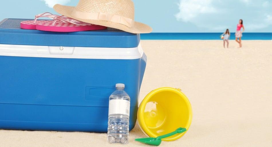 bring a beach cooler